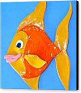 Gold Fish Canvas Print by Kimberly Castor