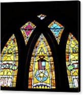 Gold Stained Glass Window Canvas Print by Thomas Woolworth
