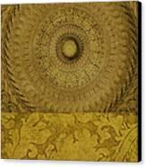 Gold Wheel I Canvas Print by Ricki Mountain