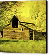 Golden Barn Canvas Print by Julie Hamilton