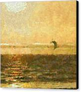 Golden Day Painterly Canvas Print by Ernie Echols
