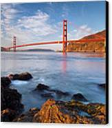Golden Gate At Dawn Canvas Print by Brian Jannsen