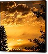 Golden Sky 2 Canvas Print by Kevin Bone