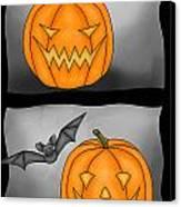 Good Pumpkin - Bad Pumpkin Canvas Print by Claudia Pflicke