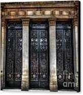 Grand Door - Leeds Town Hall Canvas Print by Yhun Suarez