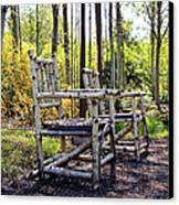 Grandmas Country Chairs Canvas Print by Athena Mckinzie