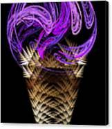 Grape Ice Cream Cone Canvas Print by Andee Design