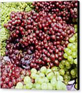 Grapes At A Market Stall Canvas Print by Jeremy Woodhouse