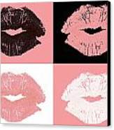 Graphic Lipstick Kisses Canvas Print by Blink Images