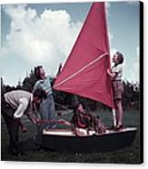 Grass Boat Canvas Print by A. E. French/Archive Photos