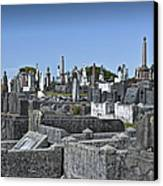 Gravestones In Graveyard Canvas Print by Dave & Les Jacobs