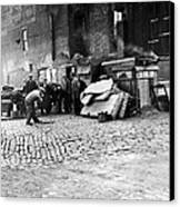 Great Depression, Riverfront Shantytown Canvas Print by Everett