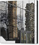 Great Northern Clocktower Reflection - Spokane Washington Canvas Print by Daniel Hagerman