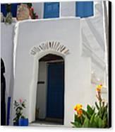 Greek Doorway Canvas Print by Jane Rix