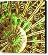 Green And Gold Canvas Print by Caryn Schulenberg