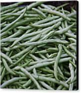 Green Beans Canvas Print by David Buffington