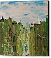 Green City Canvas Print by Mary Carol Williams