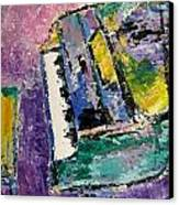 Green Piano Side View Canvas Print by Anita Burgermeister