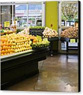 Grocery Store Produce Section Canvas Print by Andersen Ross