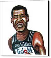 Haile Gebreselassie Canvas Print by Emmanuel Baliyanga