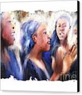 Haitian Chorus Singers Canvas Print by Bob Salo