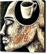 Half Cup Of Stupidity Canvas Print by Paulo Zerbato