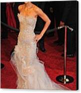 Halle Berry Wearing Marchesa Dress Canvas Print by Everett