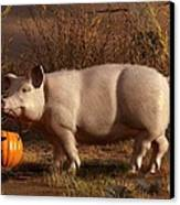 Halloween Pig Canvas Print by Daniel Eskridge