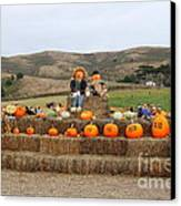 Halloween Pumpkin Patch 7d8478 Canvas Print by Wingsdomain Art and Photography