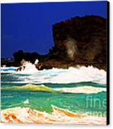 Halona Blowhole Canvas Print by Cheryl Young