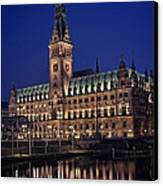 Hamburg City Hall Canvas Print by Benjamin Matthijs