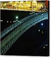 Hapenny Bridge, Dublin City, Co Dublin Canvas Print by The Irish Image Collection