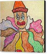 Happy Clown Canvas Print by Robyn Louisell