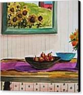 Harvest Table Canvas Print by John Williams