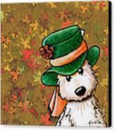Hat Season Cairn Terrier Canvas Print by Kim Niles