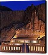 Hatshepsuts Mortuary Temple Rises Canvas Print by Kenneth Garrett