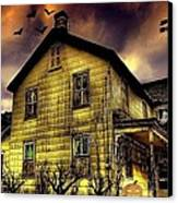 Haunted Halloween House Canvas Print by Robin Pross