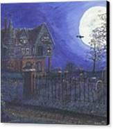 Haunted House Canvas Print by Lori  Theim-Busch