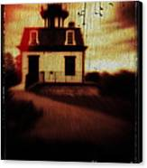 Haunted Lighthouse Canvas Print by Edward Fielding