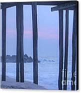 Hdr Beach Pier Ocean Beaches Art Photos Pictures Buy Sell Selling New Pics Sea Seaview Scenic   Canvas Print by Pictures HDR
