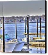 Hdr  Boat Waiting Wanting Yet Tied Canvas Print by Pictures HDR