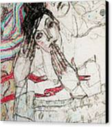 He Sleeps Canvas Print by Evgeniya Zueva