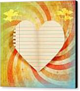 Heart Paper Retro Design Canvas Print by Setsiri Silapasuwanchai