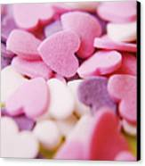 Heart Shaped Candies Canvas Print by Rolfo