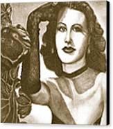 Heddy Lamar Canvas Print by Debbie DeWitt