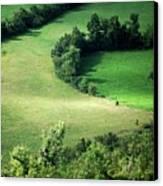 Hedged Farmland Canvas Print by Photo Marylise Doctrinal