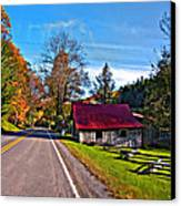 Helvetia Wv Painted Canvas Print by Steve Harrington
