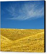 Hills And Clouds, Cypress Hills Canvas Print by Mike Grandmailson