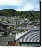 Hillside Village In Japan Canvas Print by Daniel Hagerman