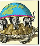 Hindu Cosmological Myth Canvas Print by Sheila Terry